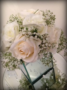 Rose and Gyp Mirror Cube wedding centrepieces by Lily Special Events - East Kilbride, Glasgow, Centrepieces and chair covers - wedding venue decor
