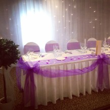 Top table swagging - Lily Special Events