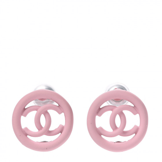 Fashionphile Fabulous Finds - September - Chanel Rubber CC Earrings Pink