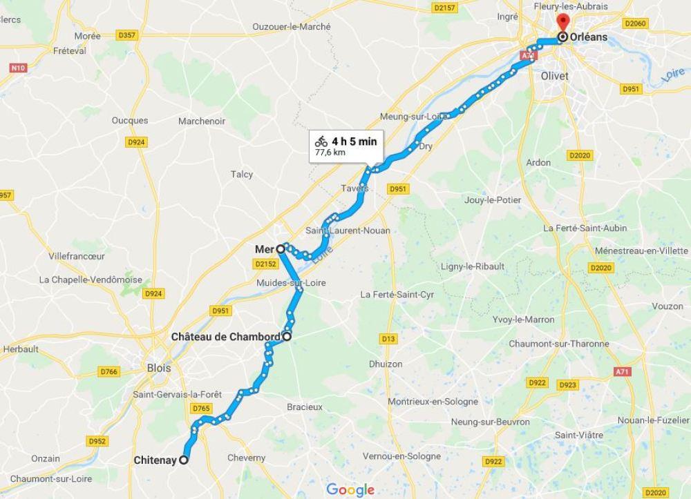 lilytoutsourire - la loire en vélo - itinéraire jour 2