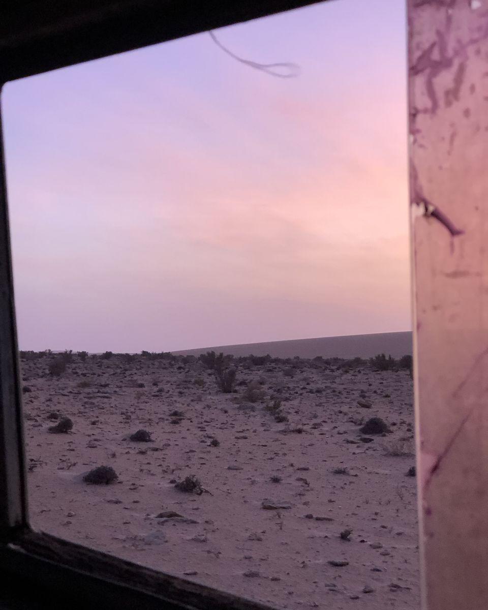 coucher de soleil - parc national de Khenifiss