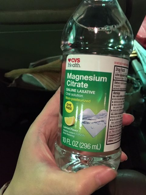 A picture of a saline laxative from CVS in lemon flavor