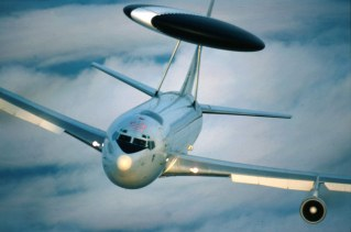 NATO's Airborne Warning and Control System (AWACS) aeroplanes