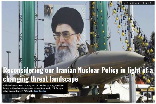 Image Lima Charlie News Headline Iran Nuclear Policy D.Firester OCT28