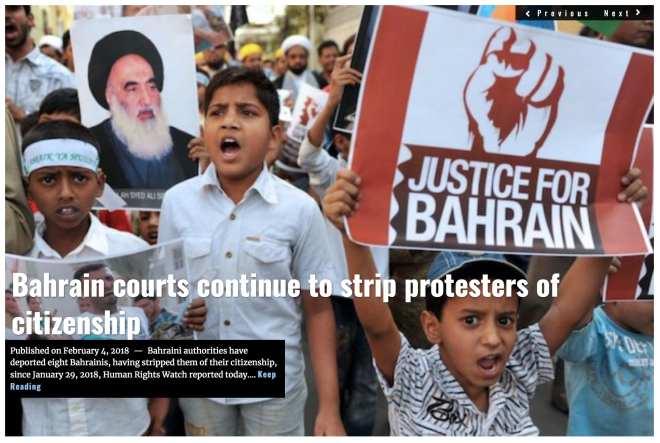 Image Lima Charlie News Headline Bahrain citizenship FEB 4 2018