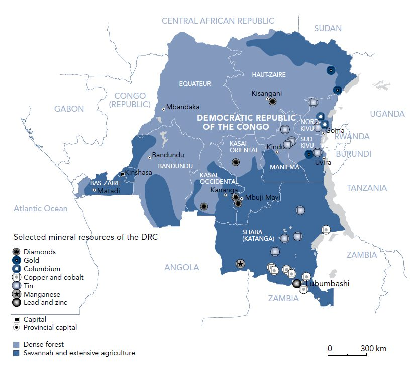 Image map Congo minerals