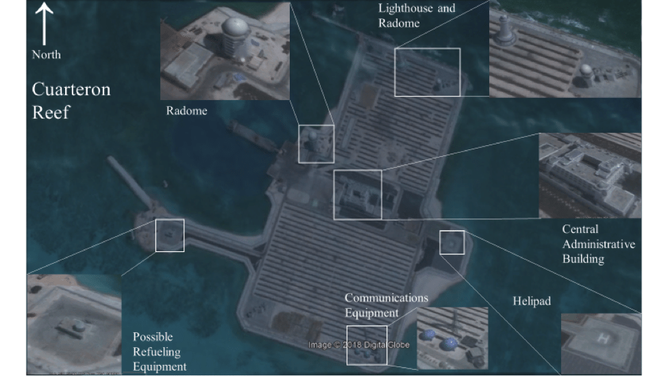 Image (Raw Imagery from Google Earth September 2, 2016; graphic overlay by Sean McNicholas, Lima Charlie News)