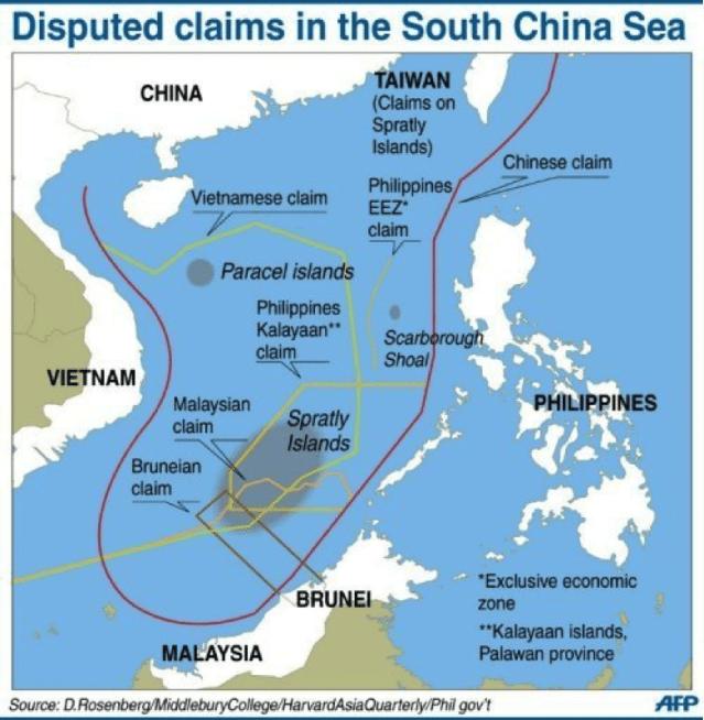Image map South China Sea dispute