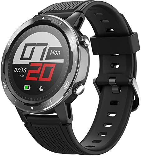 Letsfit Smart Watch, GPS Running Watch with Blood Oxygen Monitor, Fitness Tracker with Heart Rate Monitor, Swimming Tracking Smartwatch with Pedometer, Calorie Counter for Women Men (Letsfit Watches for Men)