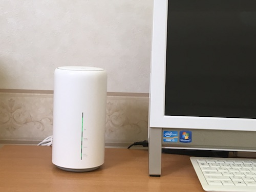 WiMAXのホームルーター「HOME L02」