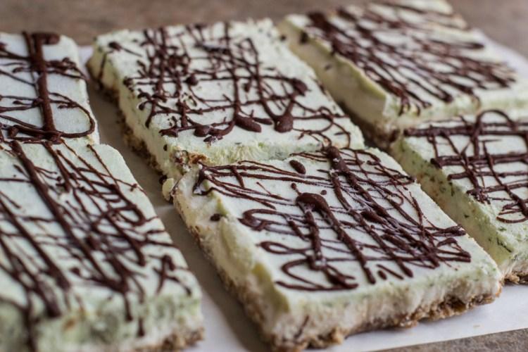 Moringa-Lime Cheesecake Squares