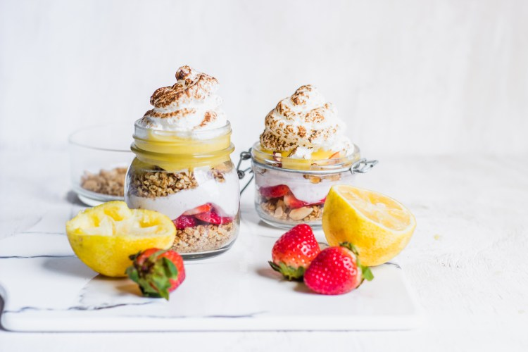 Lemon Cardamom Granola ( in a parfait!)
