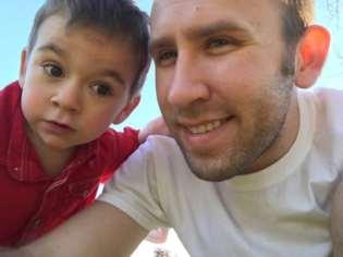 Blake and Wesley enjoying the summer sun