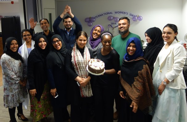 Group photo of Limehouse Project staff celebrating