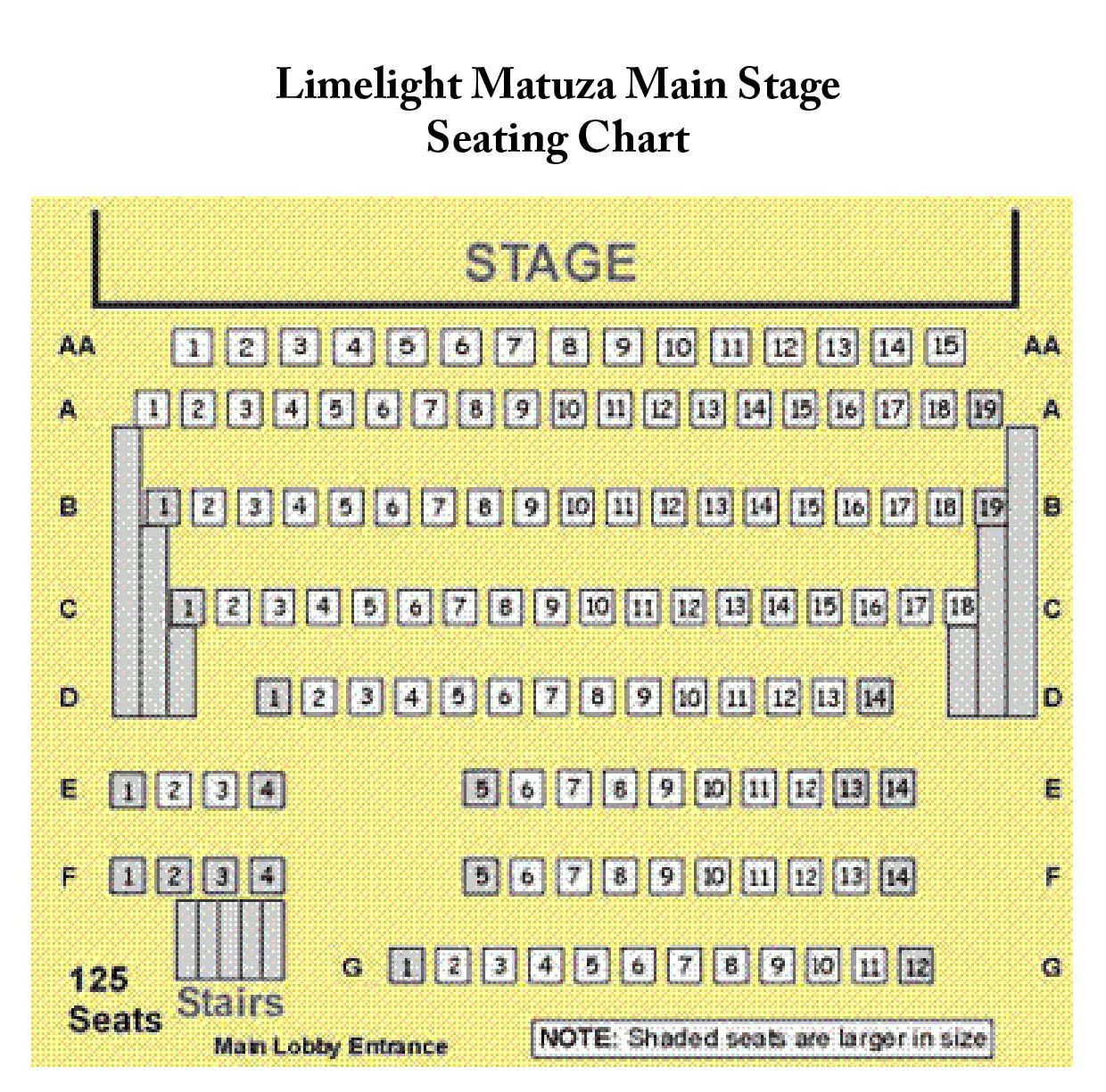 Limelight Seating Chart
