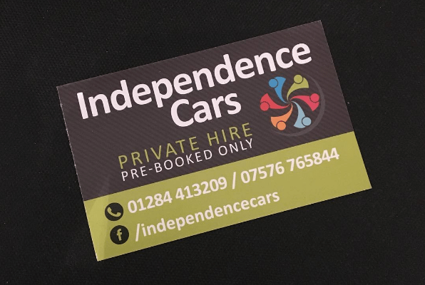 we were given the brief of a professional business card design for a new taxi company independance cars we created this modern card featuring their - Taxi Business Cards