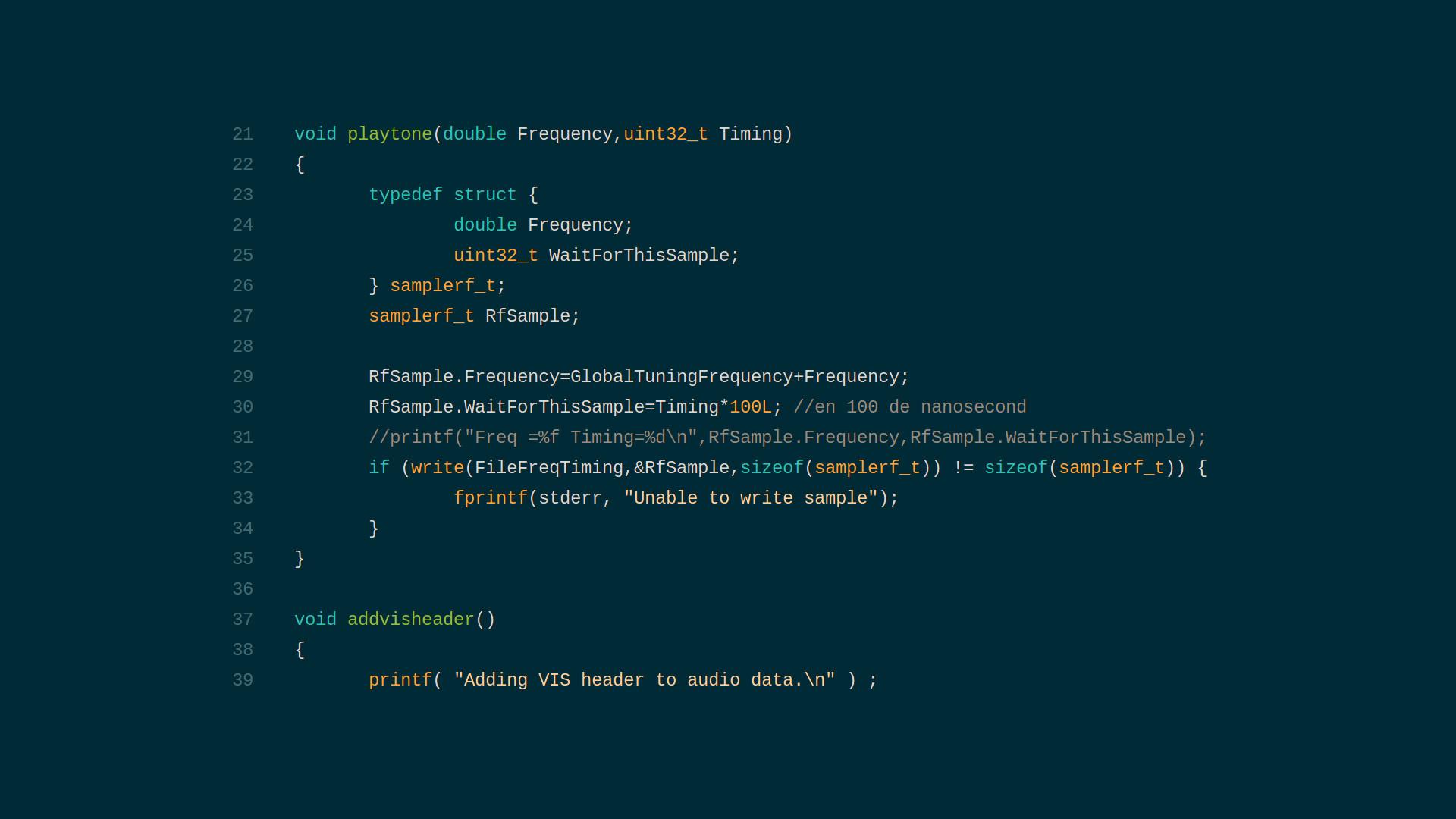 Rpitx Source Code Fragment