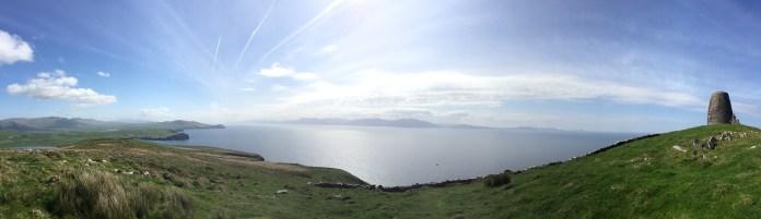 Panorama facing south from Dingle.