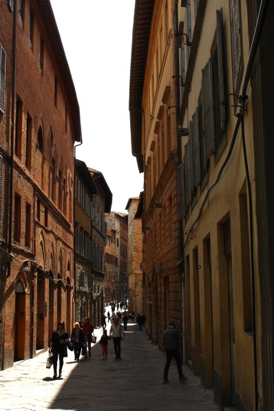 A main street in Siena