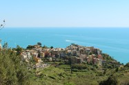 Corniglia from the trail -- the only Cinque Terre town with no ease of access to the water.