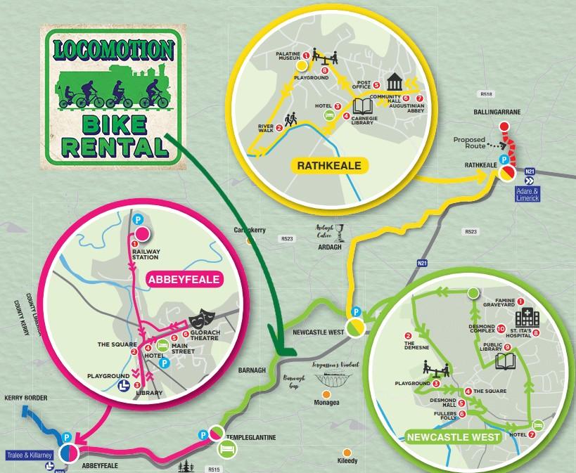 Locomotion Bike Rental   Route Map   Limerick Greenway
