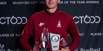 Limerick's Paudie O'Connor named Bradford City Player of the Season