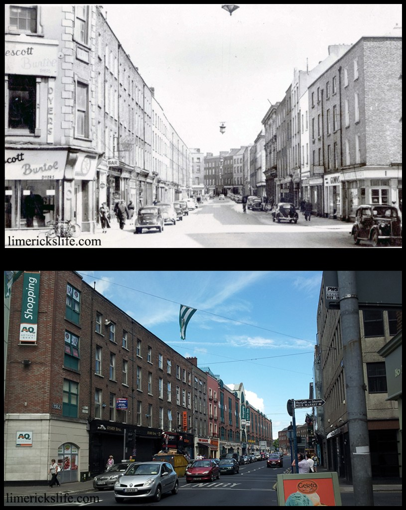 Patrick Street The original Arthur's Quay and Francis Street buildings still stood in the 1950s. Irwin Brothers owned the building at 22-23 Patrick Street which was used by the family for over 100 years until it's closure in 2011.