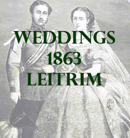 Weddings from County Leitrim in 1863