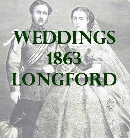 Wedding from County Longford, Ireland in 1863