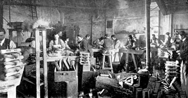 Example of Brush Factory in 1902