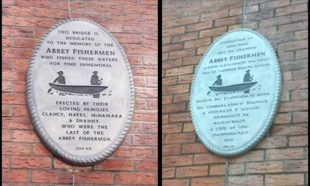 Abbey Fishermen Plaque on the Abbey Bridge