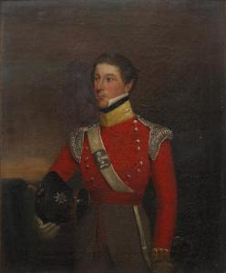 Portrait of Major Thomas Pakenham Vandeleur, 3rd son of Colonel John Ormsby Vandeleur, of the 5th Dragoon Guards