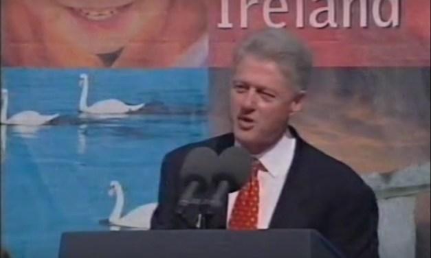 President Bill Clinton in Limerick in 1998