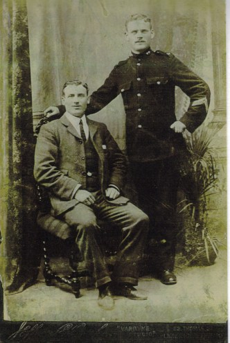 John Walters (on right in uniform) and his brother George Walters seated (Limerick's Life)