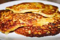 Traditional Irish boxty pancakes, golden and crispy on the outside and soft and fluffy on the inside.