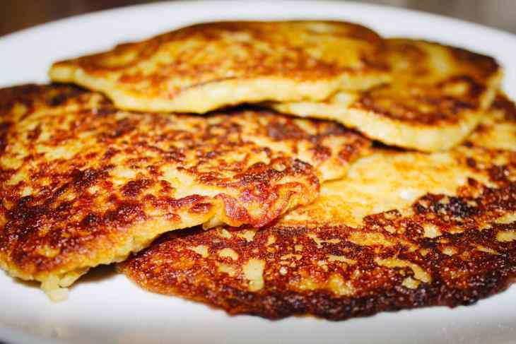 Crispy traditional Irish Boxty Pancakes served on a white plate.