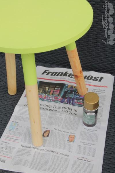 Beistelltischchen DIY Make-Over aufpeppen
