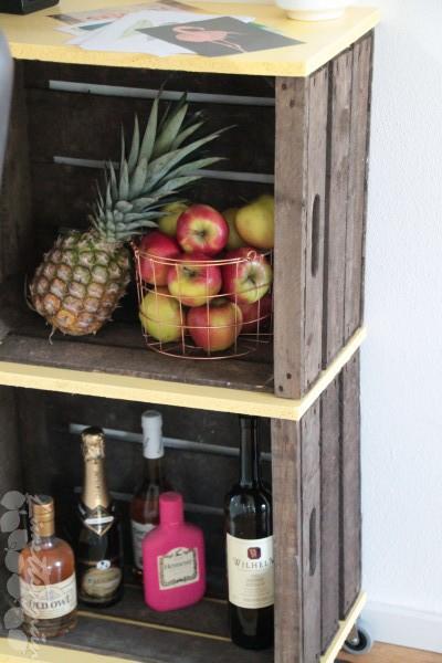 Servierwagen aus Obstkisten