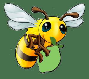 Biene mit Limette