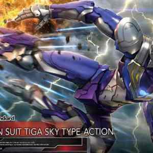 Figure-rise Standard ULTRAMAN SUIT TIGA SKY TYPE – ACTION – Bandai Model Kit – ULTRAMAN SUIT ANOTHER UNIVERSE