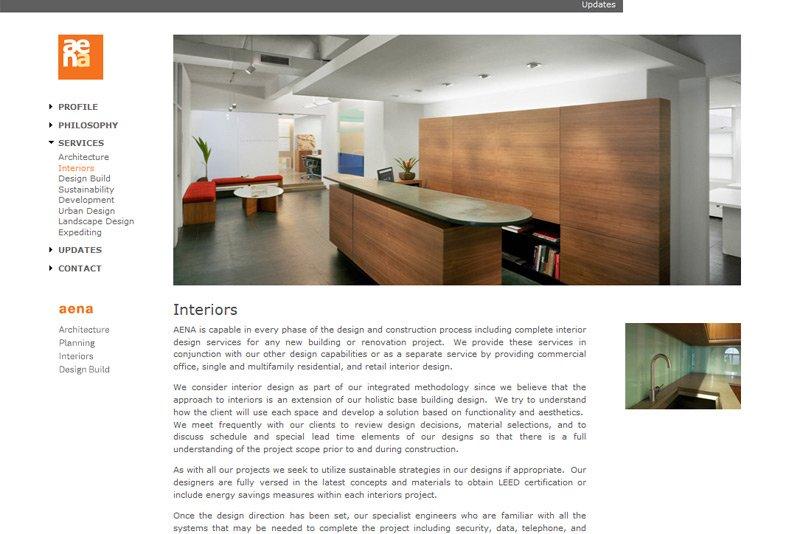 architect website design by LIMIT8
