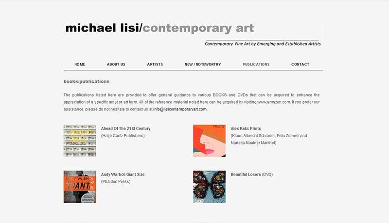 gallery website design by LIMIT8
