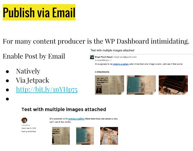 WordPress publish via email