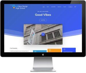 New Design High School, website by LIMIT8