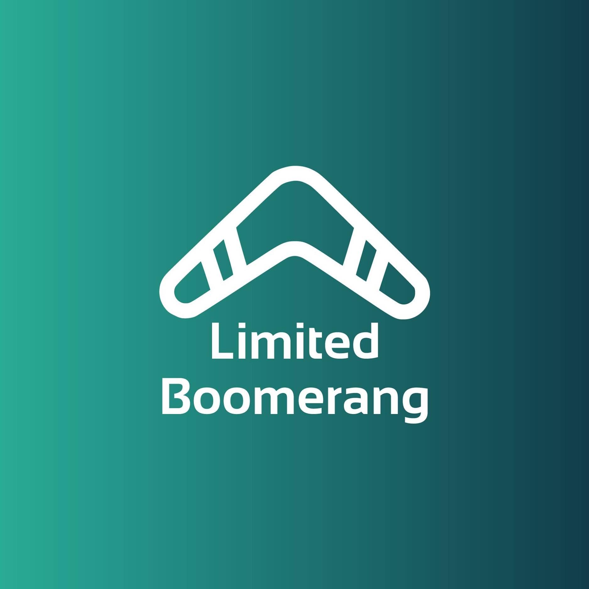 logo limited boomerang