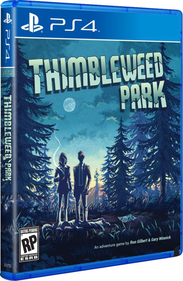 thimbleweed park limitedrungames.com ps4 cover