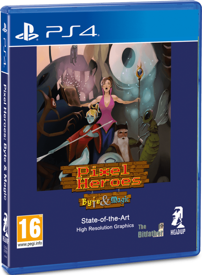 pixel heroes byte and magic game fairy headupgames ps4 cover