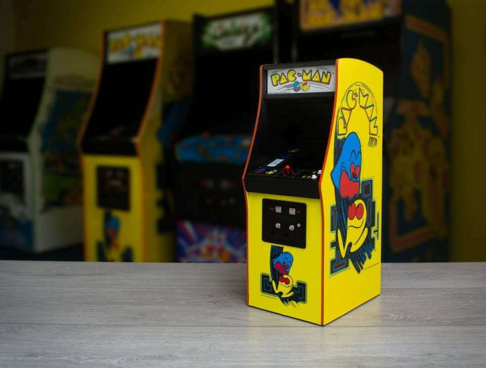official pac-man 1/4 scale replica arcade cabinet