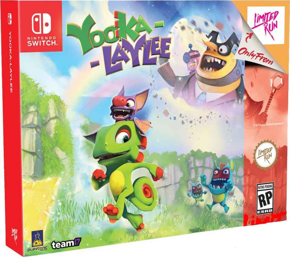 yooka laylee team 17 collectors edition limitedgamenews.com nintendo switch box