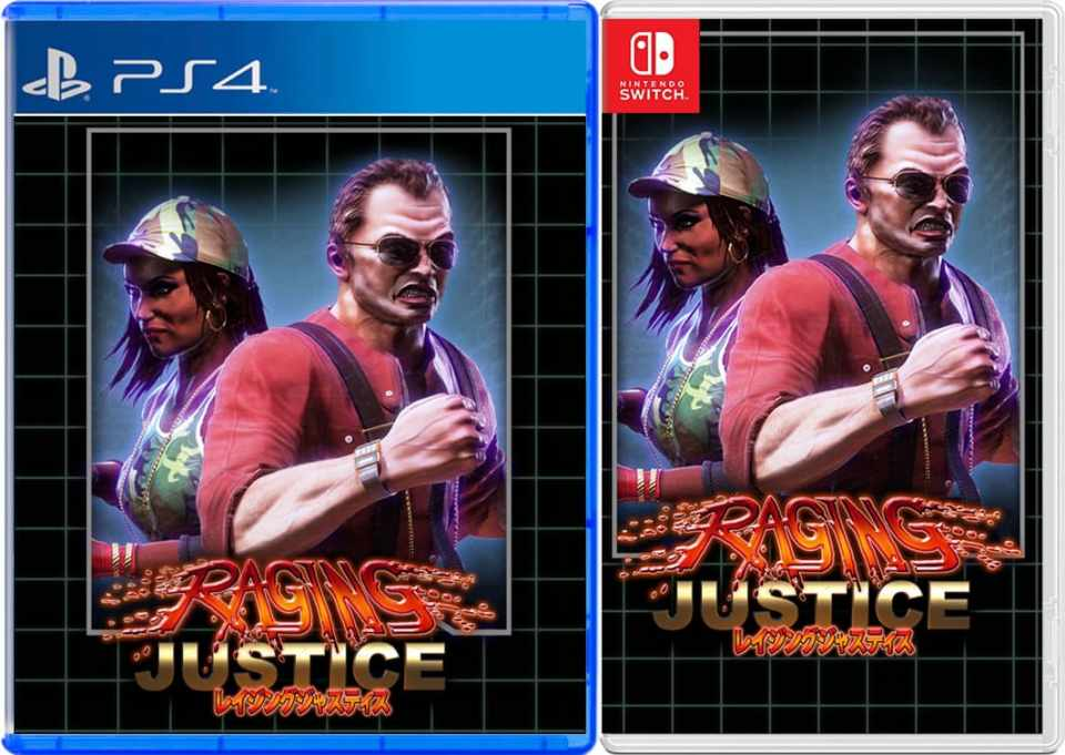 raging justice strictly limited games nintendo switch ps4 cover limitedgamenews.com